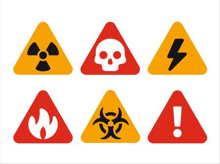 Triangular hazard warning signs Illustration