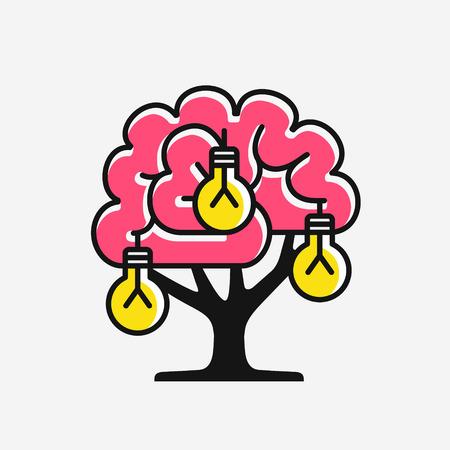New ideas generation, concept of inventing ideas, vector illustration Illustration