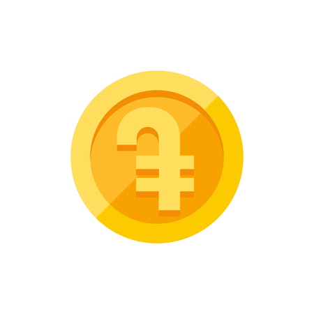 Armenian dram currency symbol. Flat style vector illustration isolated on white background Illustration
