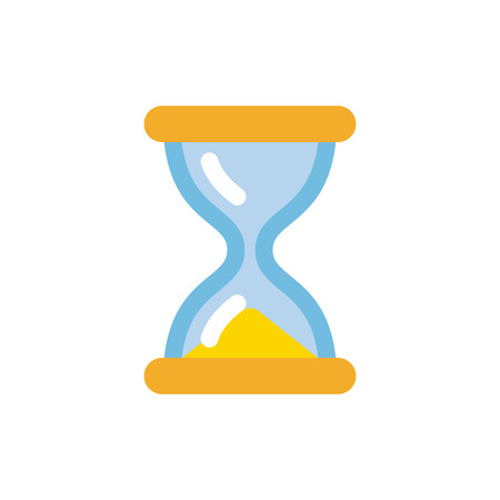 Hourglass icon, simple flat style sandglass vector illustration isolated on white background