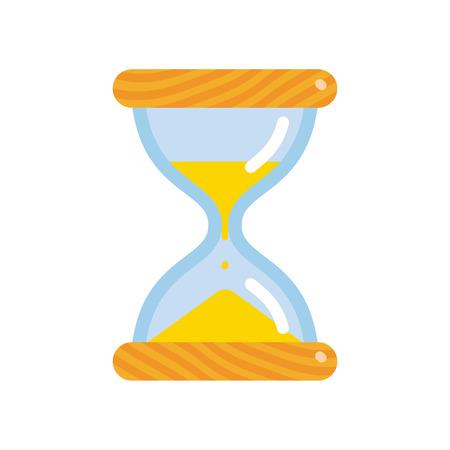 Hourglass icon, flat style sandglass vector illustration isolated on white background 일러스트