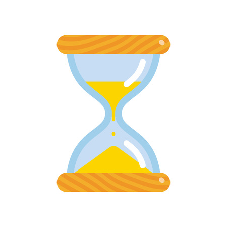 Hourglass icon, flat style sandglass vector illustration isolated on white background  イラスト・ベクター素材