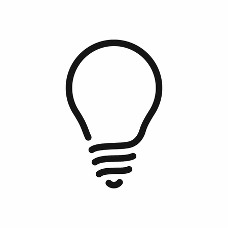 Light bulb line style black icon, vector illustration isolated on white background  イラスト・ベクター素材