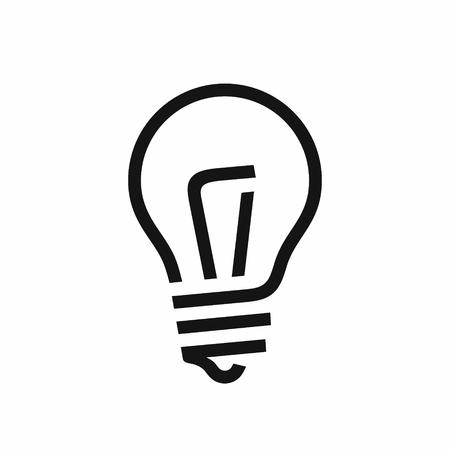 Light bulb line style black icon, vector illustration isolated on white background Illustration