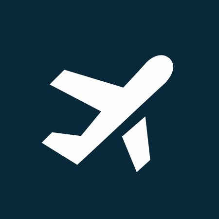 Airplane taking off simple icon, airport symbol vector illustration