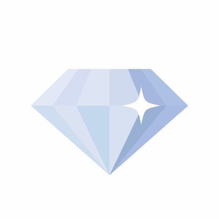 Diamond icon, simple flat vector illustration on white background
