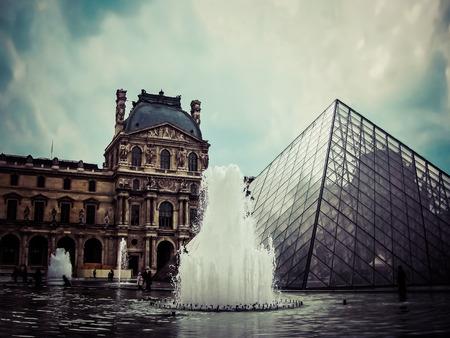 louvre: The Louvre  Vintage  Paris France