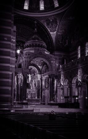 louis: Saint Louis Basilica  Black and White  Saint Louis MO