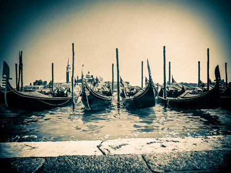 saint marks square: The Gondolas of Venice  Saint Marks Square  Venice Italy