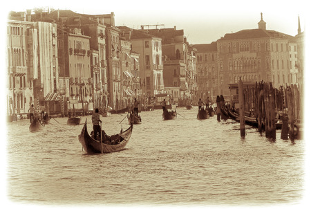 grand canal: The Grand Canal  Vintage   Venice Italy Stock Photo