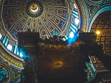 Michelangelos Dome Above Berninis Canopy  Saint Peters Basilica  Vatican City
