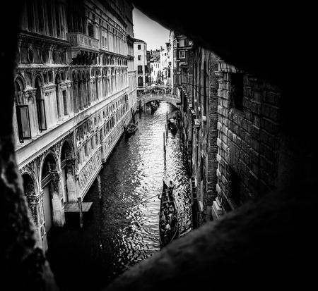 gondoliers: Inside Bridge of Sighs Prison  Venice Italy