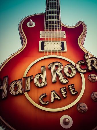 Rock N' Roll  Les Paul  Hard Rock Caf  Las Vegas Nevada Stock Photo - 39701914