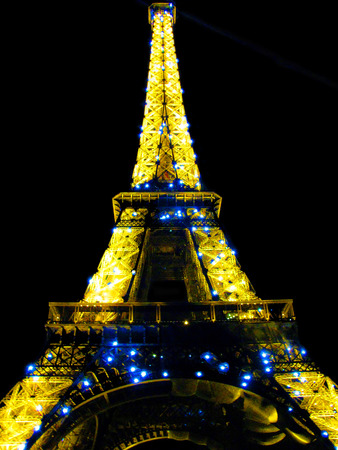 brightest: The Brightest Light  Eiffel Tower in the City of Lights  Paris France Editorial
