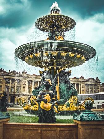 concorde: Fountain of Place de la Concorde  Paris France