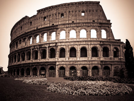 The Colosseum  Rome Italy  Vintage