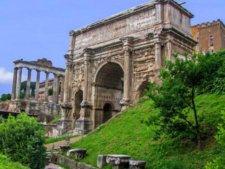 severus: The Arch of Septimius Severus  Roman Forum  Rome Italy