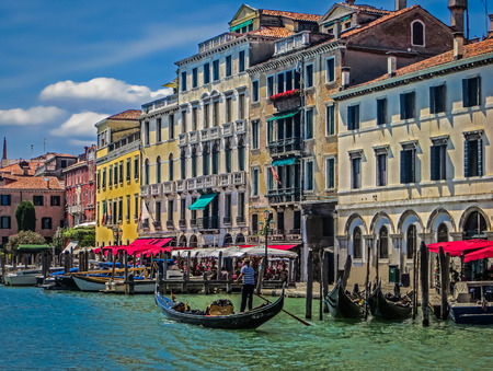 grand canal: Cafes of the Grand Canal  Venice Italy