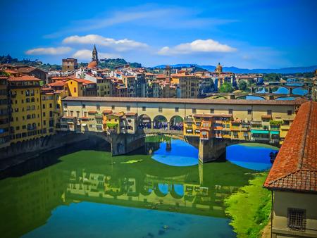 Ponte Vecchio  Florence Italy Фото со стока