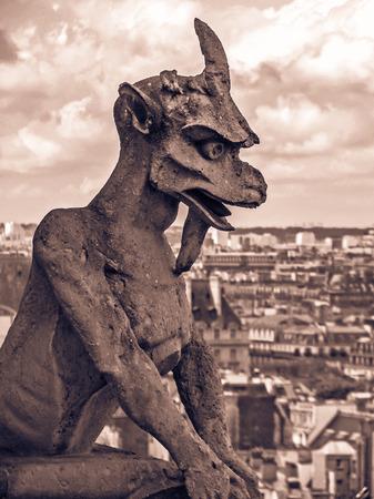 gargoyles: The Gargoyles of Notre Dame  Vintage  Paris France