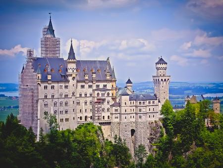 neuschwanstein: The Mad Kings Castle  Neuschwanstein Castle  Vintage  Fussen Germany