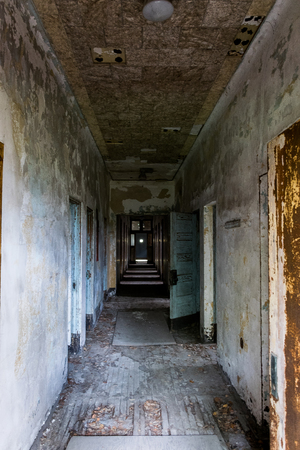 infirmary: New York City Ellis Island Infirmary Hallway