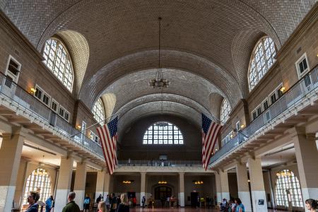 ellis: New York City Ellis Island Registry Hall Editorial