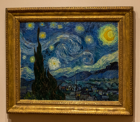 ニューヨーク近代美術館 - 星降る夜、Vincent ヴァン ・ ゴッホ 報道画像