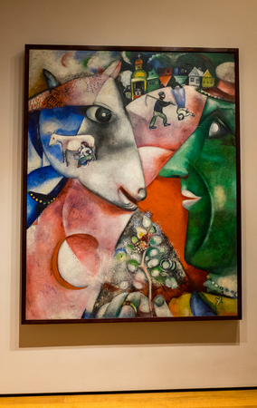 chagall: New York City MOMA - Marc Chagall Editorial