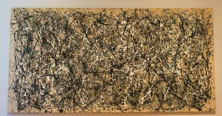 ニューヨークの MOMA - ジャクソン ・ ポロック 報道画像
