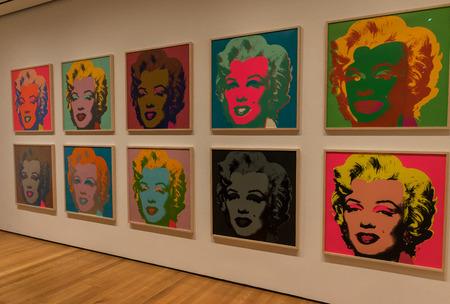 ニューヨークの MOMA - Andy Warhol、マリリンモンロー ポップアート