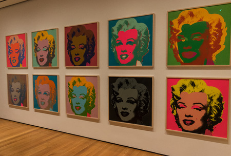New York City MOMA - Andy Warhol, Marylin Monroe Pop Art
