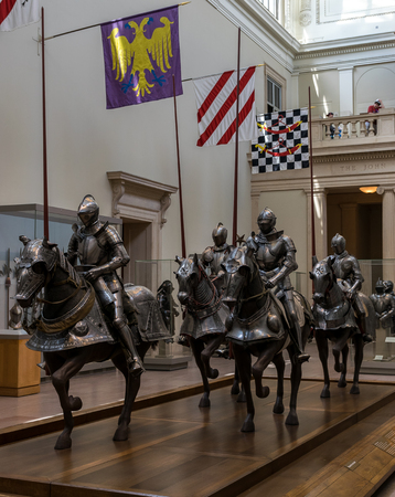 armory: New York City The Met - Medieval Knights on Armored Horses