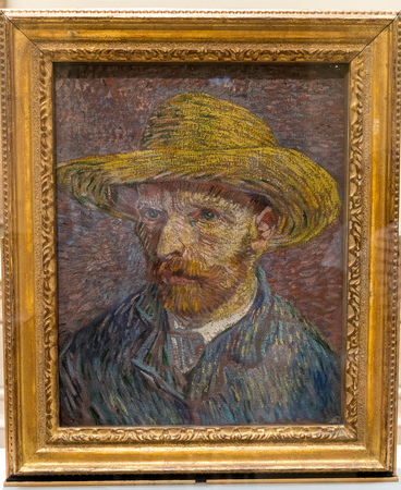 New York City The Met - Vincent Vah Gogh Self Portrait Painting