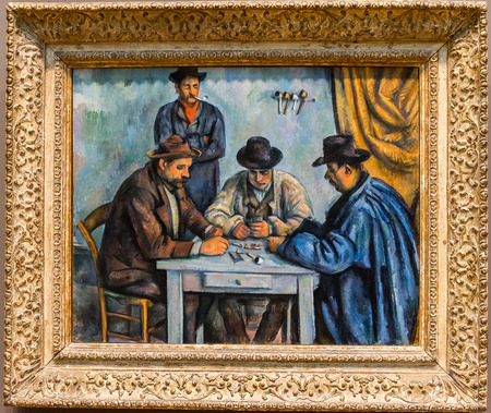 New York City The Met - Paul Cezanne, The Card Players Editorial