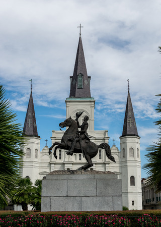 andrew: New Orleans Saint Louis Cathedral with Andrew Jackson Statue