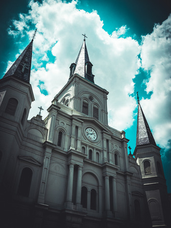 New Orleans Saint Louis Cathedral Stok Fotoğraf