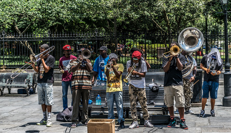 performers: New Orleans French Quarter Street Performers Editorial