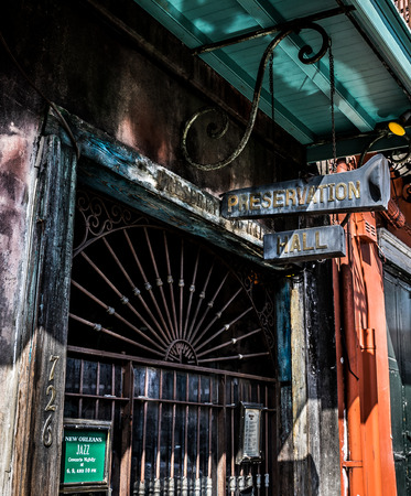 Preservation Hall Jazz Club Entrance