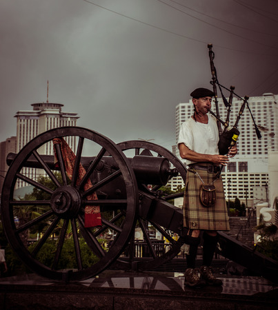 bagpipe: New Orleans Bagpipe Player Editorial