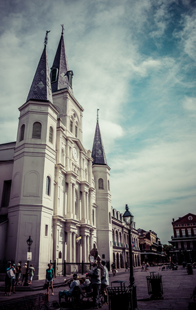 orleans: New Orleans Saint Louis Cathedral Editorial