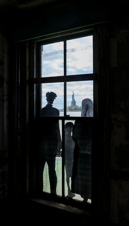 New York City Ellis Island Immigrants View of Statue of Liberty