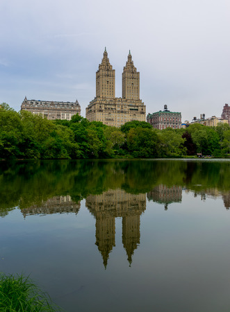 eldorado: New York City Central Park The Eldorado Reflection Stock Photo