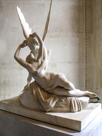 Paris, France - The Louvre - Antonio Canova Psyche and Cupid
