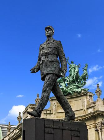 Paris, France - Charles De Gaulle Statue