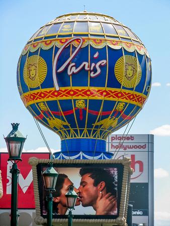 Las Vegas, NV USA - Paris Baloon on Las Vegas Strip Editorial