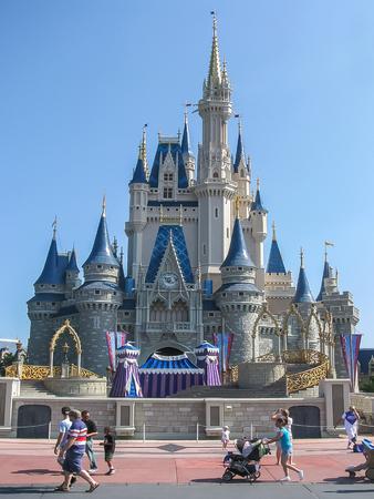Orlando, FL USA - Walt Disney Castle at Magic Kingdom