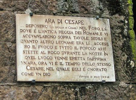 Rome, Italy - Roman Forum- Tomb of Julius Caesar