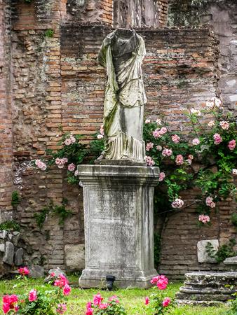 vestal: Rome, Italy - Roman Forum-Vestal Virgins
