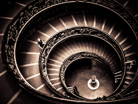 spiraling: Vatican City - Vatican Museums-Spiraling Exit Staircase Editorial